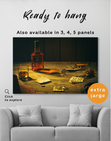 Whiskey and Poker Canvas Wall Art - image 7
