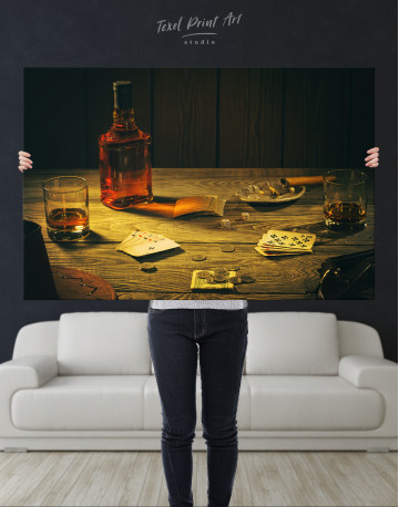Whiskey and Poker Canvas Wall Art - image 8
