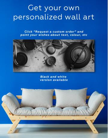 Zen Tea Ceremony Canvas Wall Art - image 2