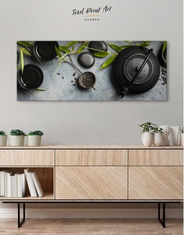 Zen Tea Ceremony Canvas Wall Art