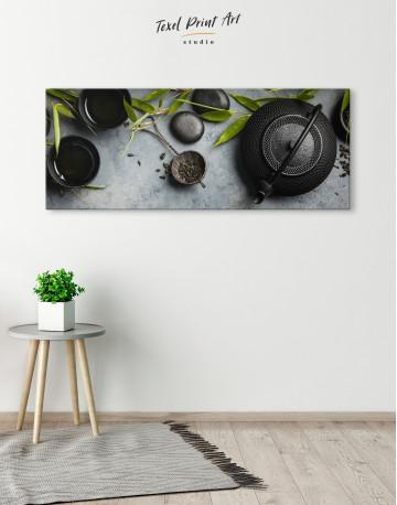 Zen Tea Ceremony Canvas Wall Art - image 1