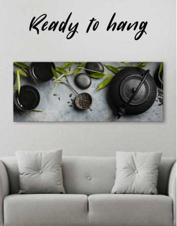 Zen Tea Ceremony Canvas Wall Art - image 4