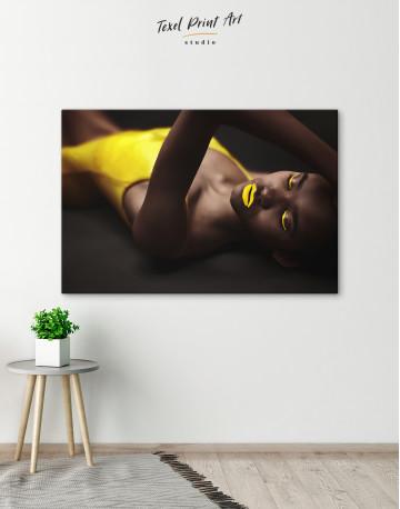 Beautiful Sensual African Woman Canvas Wall Art - image 3