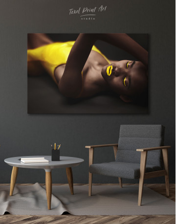 Beautiful Sensual African Woman Canvas Wall Art - image 6