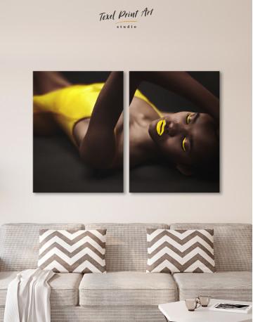 Beautiful Sensual African Woman Canvas Wall Art - image 2