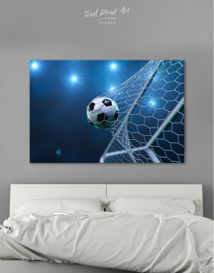 Soccer Goal Canvas Wall Art