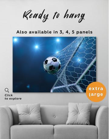Soccer Goal Canvas Wall Art - image 2