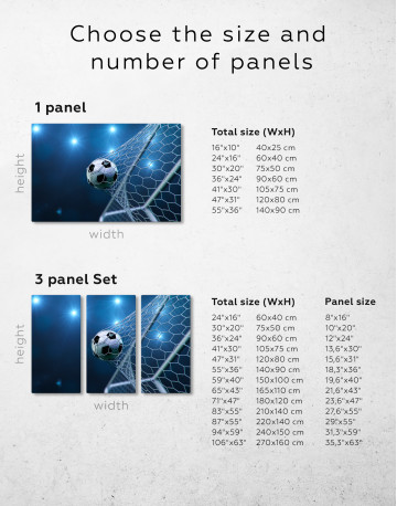 Soccer Goal Canvas Wall Art - image 1