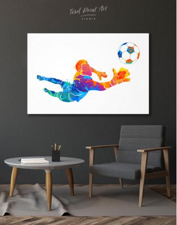 Watercolor Football Goalkeeper Canvas Wall Art - image 9