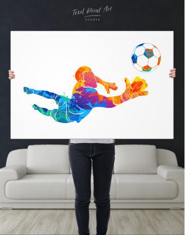 Watercolor Football Goalkeeper Canvas Wall Art - image 7