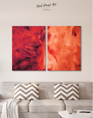 Red and Orange Feather Canvas Wall Art - image 10