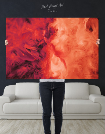 Red and Orange Feather Canvas Wall Art - image 9