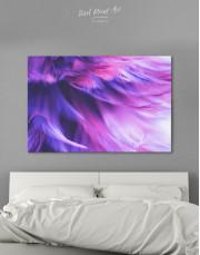 Purple Bird Feather Canvas Wall Art