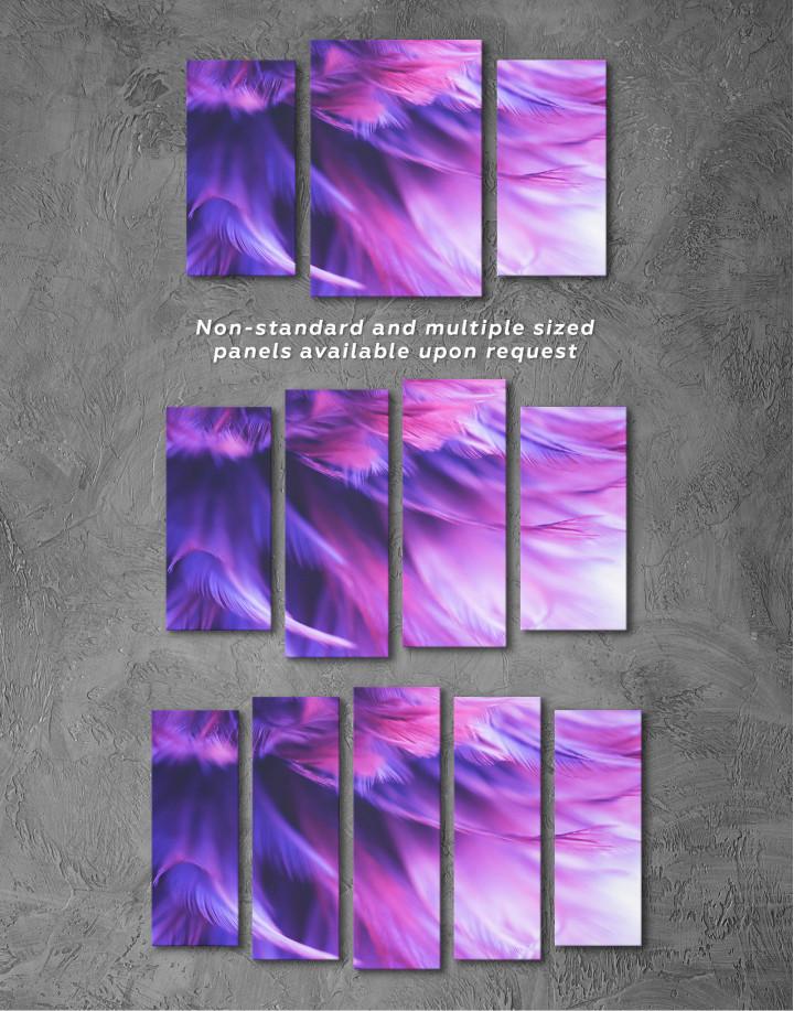 Purple Bird Feather Canvas Wall Art - Image 6