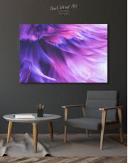 Purple Bird Feather Canvas Wall Art - Image 7