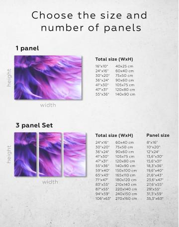 Purple Bird Feather Canvas Wall Art - image 9
