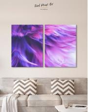 Purple Bird Feather Canvas Wall Art - Image 2