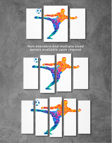 Watercolor Soccer Player Canvas Wall Art - image 6