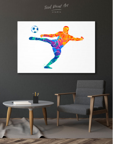 Watercolor Soccer Player Canvas Wall Art - image 5