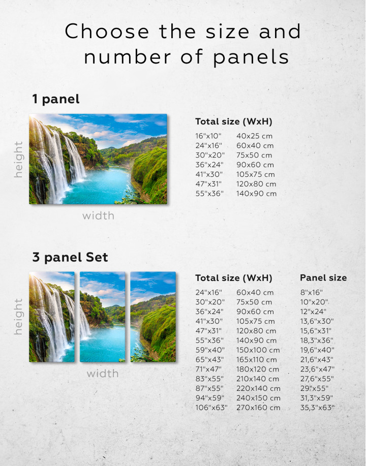 Huangguoshu Waterfall Canvas Wall Art - Image 2