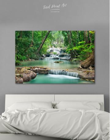 Deep Forest Waterfall Canvas Wall Art