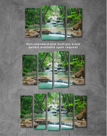 Deep Forest Waterfall Canvas Wall Art - image 6