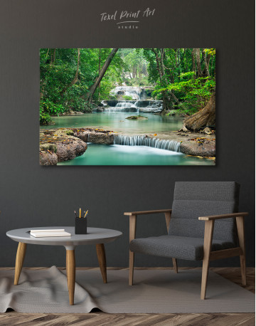 Deep Forest Waterfall Canvas Wall Art - image 7