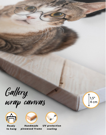 Cat in Glasses Canvas Wall Art - image 8