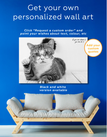 Cat in Glasses Canvas Wall Art - image 7