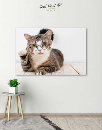 Cat in Glasses Canvas Wall Art - image 6