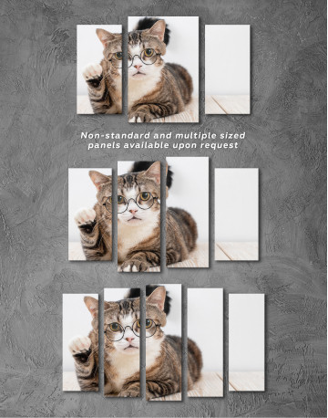 Cat in Glasses Canvas Wall Art - image 5