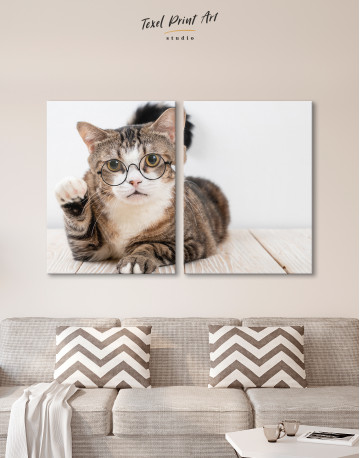 Cat in Glasses Canvas Wall Art - image 10