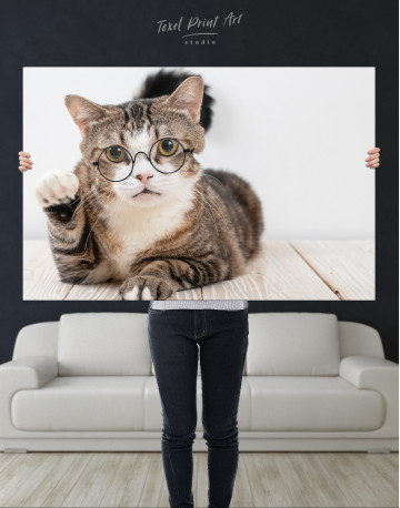 Cat in Glasses Canvas Wall Art - image 9