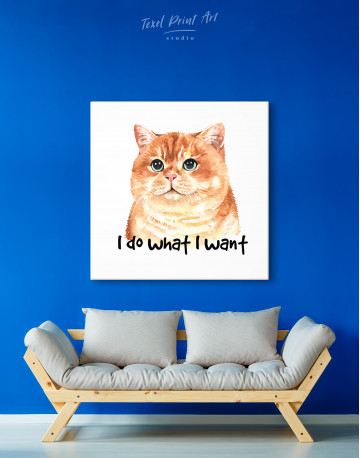 I Do What I Want Cat Canvas Wall Art - image 4
