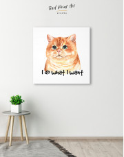I Do What I Want Cat Canvas Wall Art - Image 5