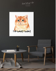 I Do What I Want Cat Canvas Wall Art - Image 1