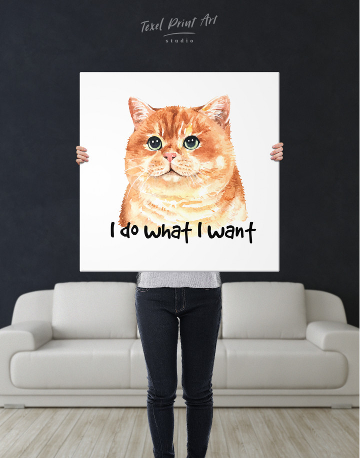 I Do What I Want Cat Canvas Wall Art - Image 6
