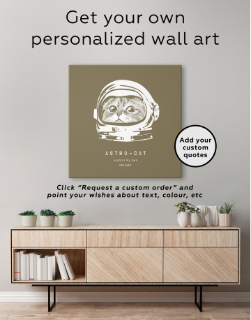 Astro Cat Canvas Wall Art - image 3