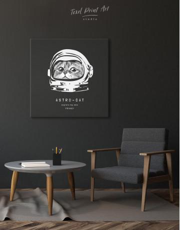 Astro Cat Canvas Wall Art - image 1