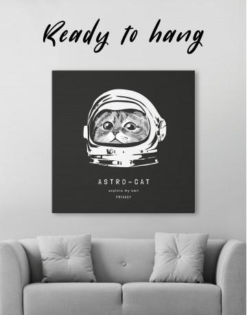 Astro Cat Canvas Wall Art