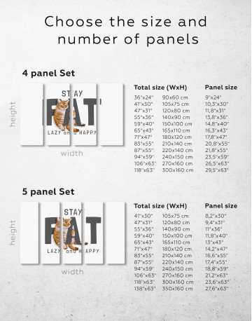 Stay Fat Lazy and Happy Canvas Wall Art - image 7