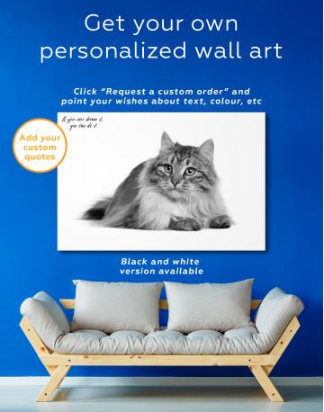 Siberian Cat Canvas Wall Art - image 7
