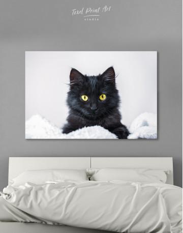 Cute Black Kitten Canvas Wall Art - image 2