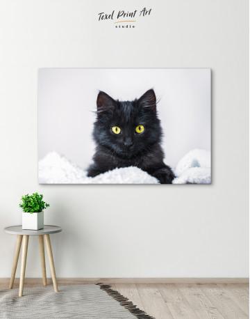 Cute Black Kitten Canvas Wall Art - image 5