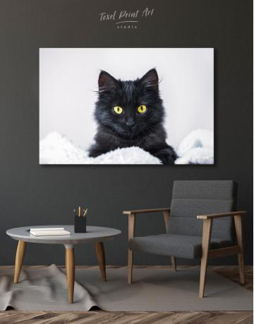 Cute Black Kitten Canvas Wall Art - image 7