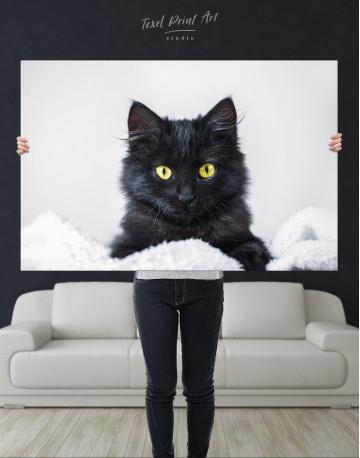 Cute Black Kitten Canvas Wall Art - image 3