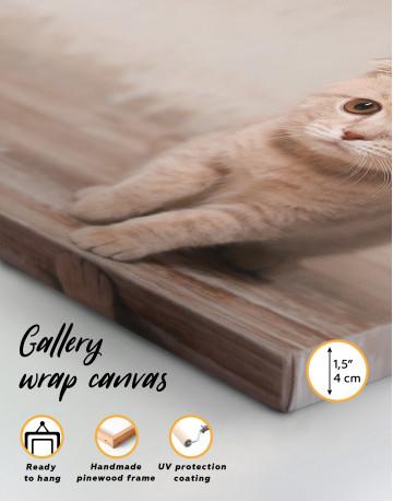 Tan Scottish Fold Kitten Canvas Wall Art - image 2