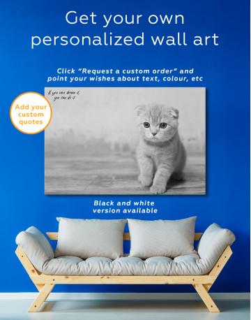 Tan Scottish Fold Kitten Canvas Wall Art - image 3