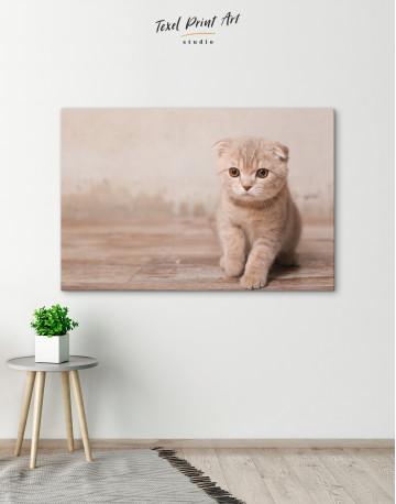Tan Scottish Fold Kitten Canvas Wall Art - image 4