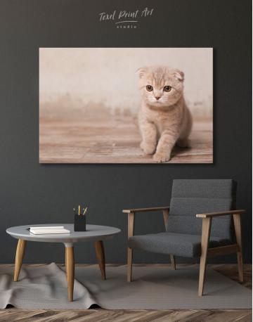 Tan Scottish Fold Kitten Canvas Wall Art - image 6
